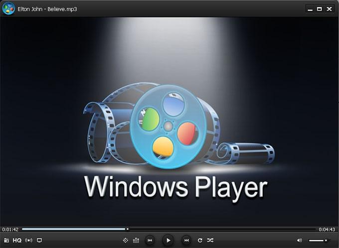 Главное окно программы Windows Player